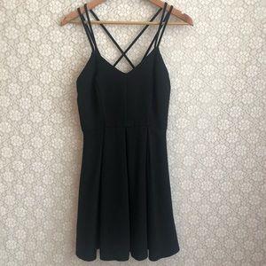 Ya Los Angeles | Flirty Black Strappy Dress | M